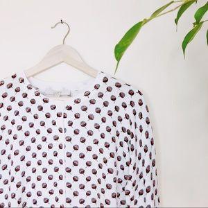 NWT LOFT cropped printed button cardigan